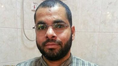 صورة استشهاد السجين السياسي البحراني حسين بركات إثر إصابته بفيروس كورونا